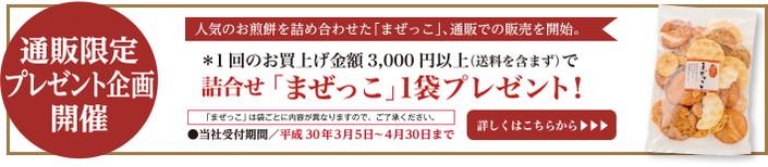 【通販限定企画】詰合せ「まぜっこ」プレゼントキャンペーンスタート!