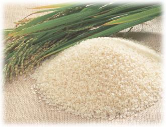 こだわりの原材料、国産米